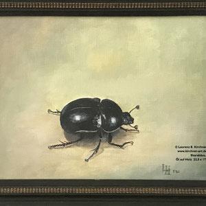 Skarabäus, Öl auf Holz   23,5 x 17