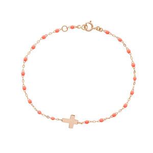Bracelet Perles Resine Croix