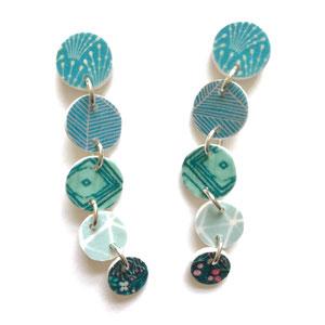 mermaid teal earrings