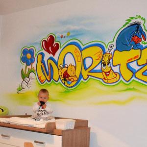 Wandgraffiti / Kinderzimmer