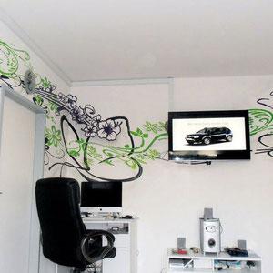 Walldesign / Büro-Wohnzimmer