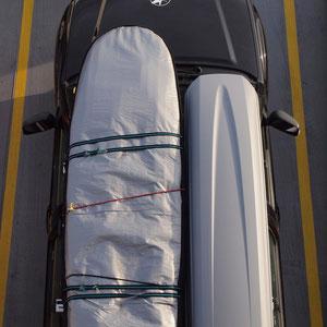 Unser Mobil auf der Fähre zum Festland
