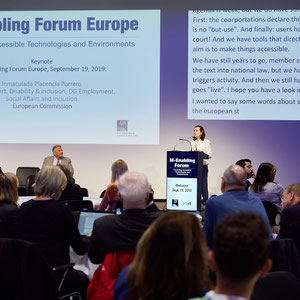 Picture 1: Conference M-Enabling Forum Europe 2019