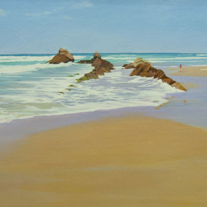 Morning light . Merón. Santander.130x65cm. Acrylic and oil on canvas.