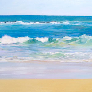 La playa del camello. Oil on canvas. 130 x65 cm.
