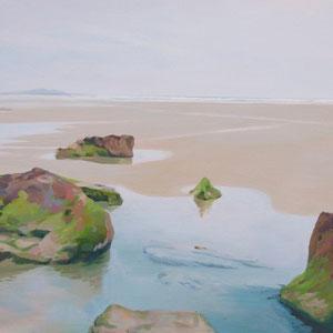 Rocas en la playa de Merón. Santander. 65 x 81 cm. *