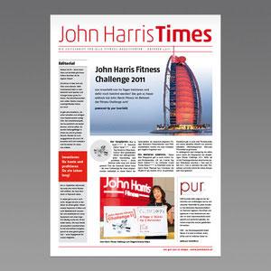 Konzept und Produktion Kundenmagazin John Harris Fitness
