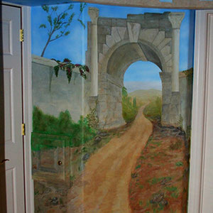 Roman Arch Mural 5' x 7' (Private Residence 2006)