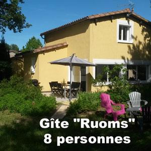 Gîte Ruoms 8 personnes - à Pradons près de Ruoms en Sud Ardèche