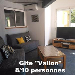 Gîte Vallon 8/10 personnes - à Pradons près de Ruoms en Sud Ardèche