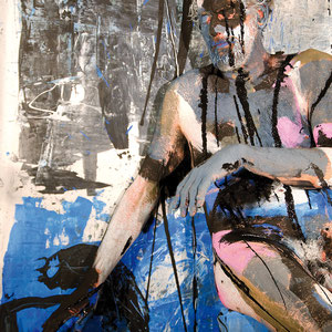 -5-N&F-Peinture sur Corps Photographie sur toile ou Plexiglas  50x70 de 10 exemplaires