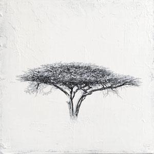 Liz Bono - Consciencia interior - 50 cm x 50 cm - Techniques mixtes sur toile - Prix sur demande