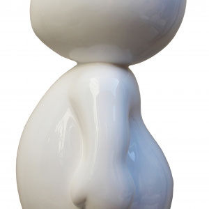 SANDRA DAVID - Kawaï - N°1/8 - Blanc - 51 cm de hauteur x 26 cm de largeur - Matériaux composites - Réf 251 - Prix sur demande.