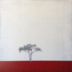 Liz Bono - Distinción interior - 100 cm x 100 cm - Techniques mixtes sur toile - Prix sur demande