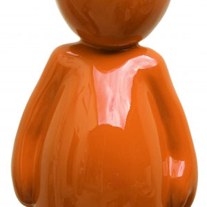 SANDRA DAVID - Summer N°3/8 - Orange - 64 cm de hauteur x 27 cm de largeur - Matériaux composites - Réf 254 - Prix sur demande.