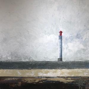 De Olea - Le Phare - Réf. 288 - Acrylique sur toile - 89 cm x 116 cm - Prix : 1100 Euros