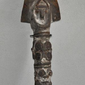 HERITAGES DES ARTS PREMIERS - OFO/IGBO (N°2) - NIGERIA - BOIS, METAL, PIGMENTS - HAUTEUR 50 CM - L209/5