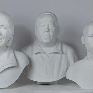 """Les 3 bustes de la """"Forêt des âmes"""""""