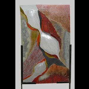 """tableau verre """"cocon"""" 80 x 50 cm"""