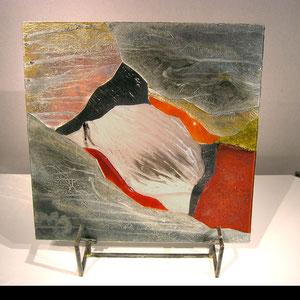 """tableau verre """"cocon"""" 50 x 50 cm"""
