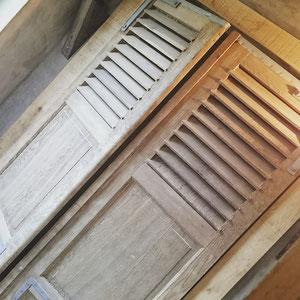 La Maison du Vivier, gîte Durbuy - Chambre 3 - Volets chambre/salle de bain