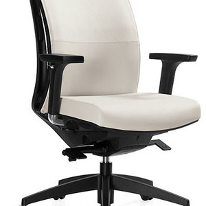 modern white adjustable professional commercial office chair