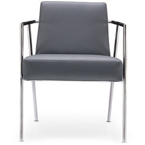 modern gray professional commercial office guest chair