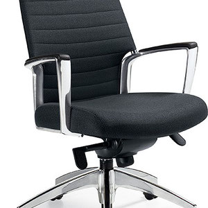 modern black adjustable professional commercial office chair