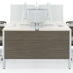 modern office furniture, white and wood professional commercial multi workstation