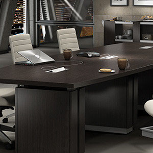 modern office furniture: professional commercial wood conference table