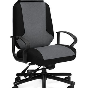 modern professional commercial adjustable office chair gray and black office chair