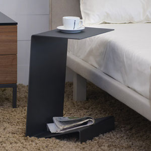 modern canadian side table, gray metal