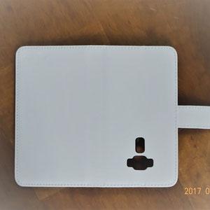 スマホ用ケース(本革白) ASUS ZenFone 3 (ZE552KL)用