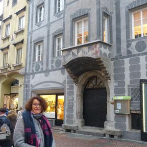 In der Einkaussstraße von Bruneck