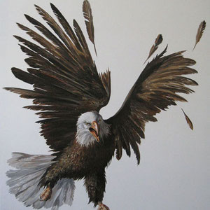 Genia Chef, Eagle, 180 x 140 cm, oil on canvas