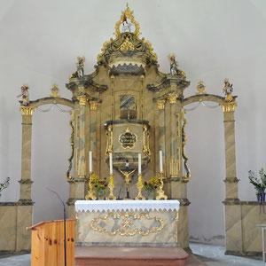 Evang. Kirche Eisentratten-Kanzelaltar