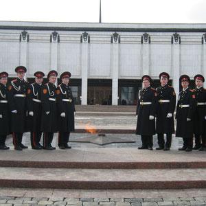 Вечный огонь на Поклонной горе. Город Москва.