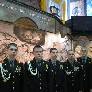 Музей истории казачества в кадетском корпусе имени М. Шолохова. Город Москва.