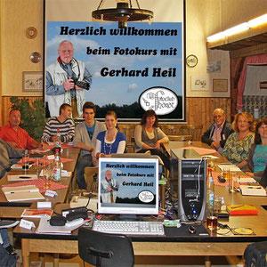 Die Teilnehmer beim Fotokurs im September 2010.