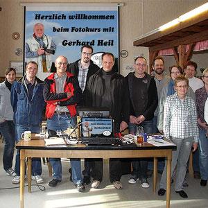 Die Teilnehmer beim Fotokurs im März 2011. - Für den nächsten Kurs gibt es eine Warteliste - Anmeldungen sind über die Kontaktseite möglich.
