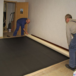 Anfang des Jahres 2011 beginnen die Arbeiten im neuen Fotostudio und man sieht schon Fortschritte.