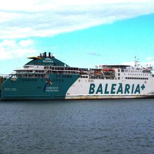 Voor het eerst gevaren met Balearia. Goed bevallen