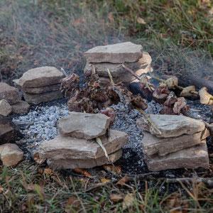 Azerbaijan - unser Mittagessen bruzzelt
