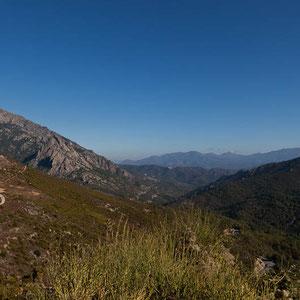 Unterwegs durch gebirgige Gegenden zwischen Corte und Ajaccio