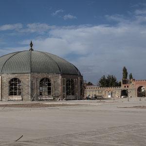 Azerbaijan / Aserbaidschan - Renovationsarbeiten bei Noah's Grab in der autonomen Republik Nakhchivan