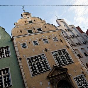 """Lettland - Eindrücke aus Riga die mittelalterlichen Wohnhäuser """"Drei Brüder"""""""