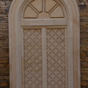 Azerbaijan - Türe in den Gassen der Altstadt von Baku