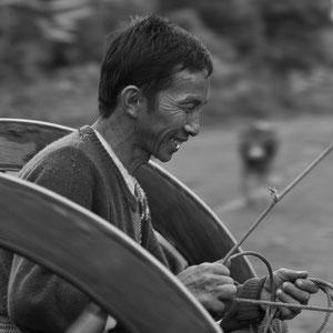 Myanmar people - unterwegs auf der Strasse in Myanmar