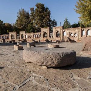 Azerbaijan / Aserbaidschan - Steinskulpturen beim Momina Khatun Mausoleum - Autonomen Republik Nakhchivan