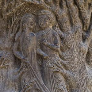 Azerbaijan - Skulptur-Detail in der Altstadt von Baku